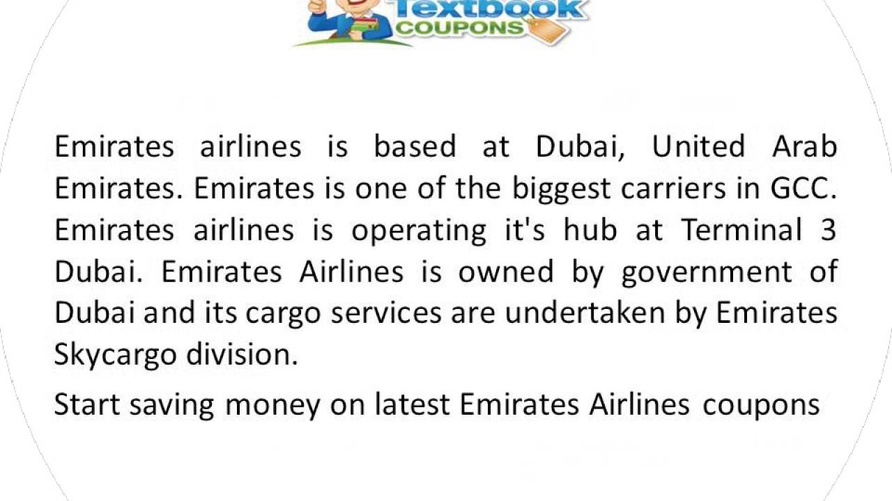 Emirates promo code and emirates discount code