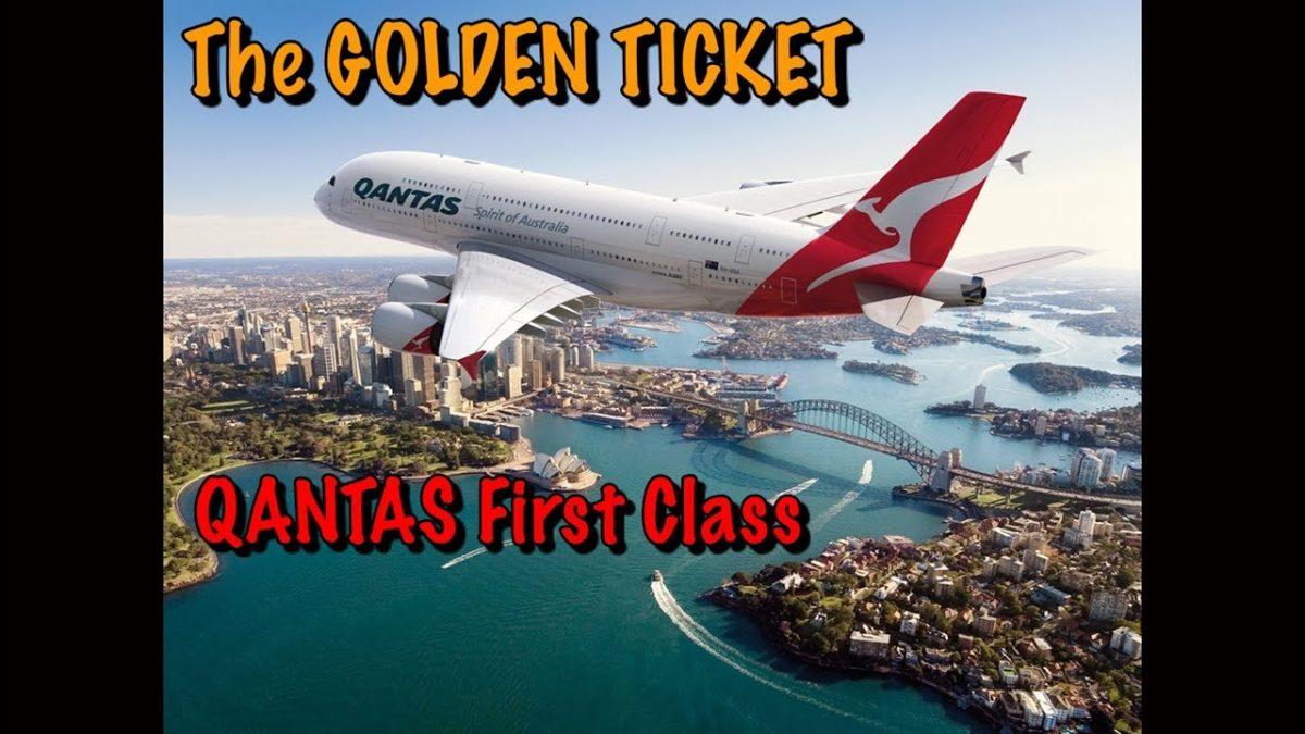 THE GOLDEN TICKET QANTAS FIRST CLASS A380 LONDON TO AUSTRALIA ( Emirates First Class link below)