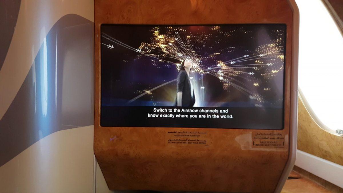 Emirates ICE in-flight system promo